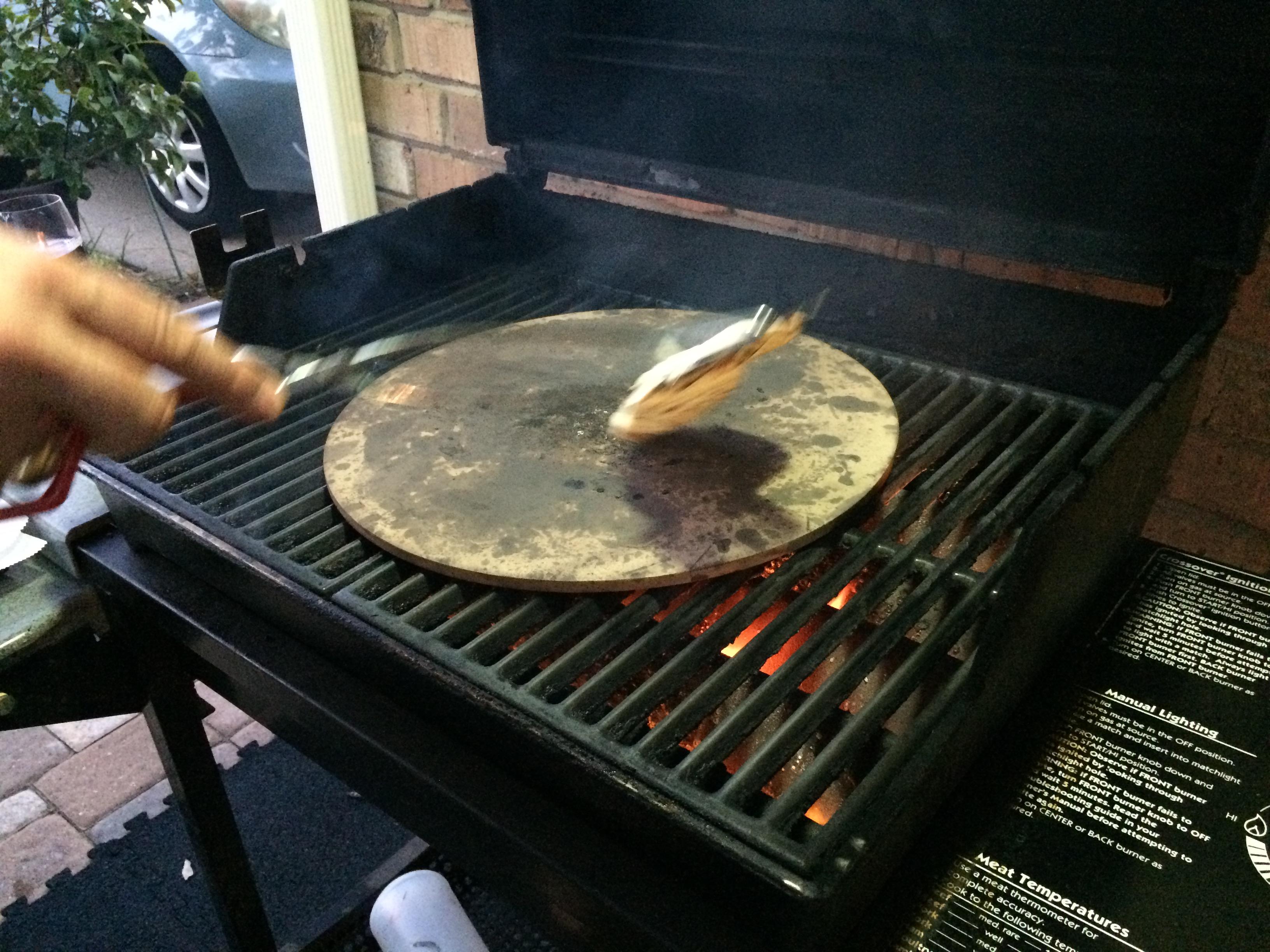 naan on a barbecue pizza stone grandpa u0027s grill and wine cellar